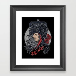 Bad Wolf Framed Art Print