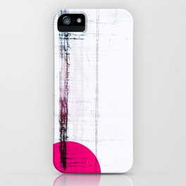 Pink Circle Straight Lines Abstract Black and White iPhone Case