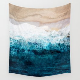 Watercolour Summer beach III Wall Tapestry