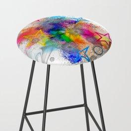 Color blobs by Nico Bielow Bar Stool
