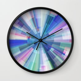 Explosion of Blue Gravity Wall Clock