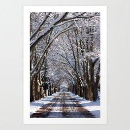 Winter Tunnel Art Print