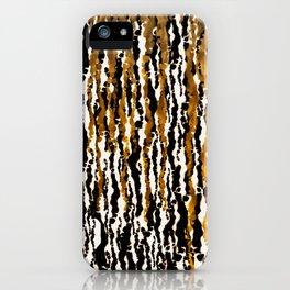 Gold & Black Jungle Rain iPhone Case
