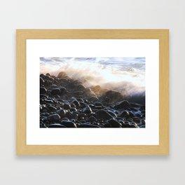 Oregon Splash Framed Art Print