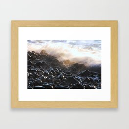 Oregon Splash Framed Art Print