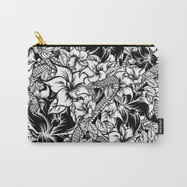 Snaky Fleur, Black 'n White Carry-All Pouch