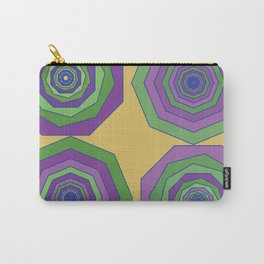Unbalanced octagon yellow Carry-All Pouch