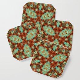 Scifi Rustic Geometric Coaster