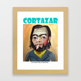 Julio Cortazar by Diego Manuel Framed Art Print