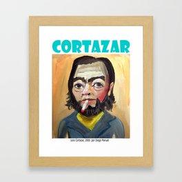 Julio Cortazar by Diego Manuel Framed Art Print