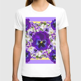 PURPLE PANSIES GARDEN LILAC ART T-shirt