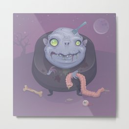 Blob Zombie Metal Print