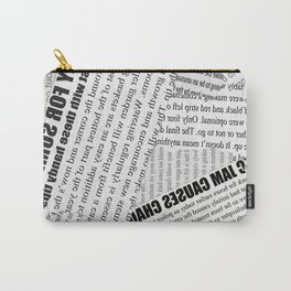 Old Newspaper Vintage Design Carry-All Pouch
