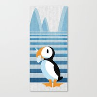 puffin Canvas Prints featuring PUFFIN by Daniele Vittadello