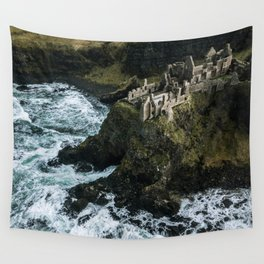 Castle ruin by the irish sea - Landscape Photography Wall Tapestry