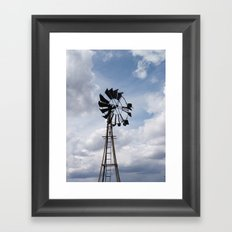 Left to the Elements...Abandoned Windmill Framed Art Print