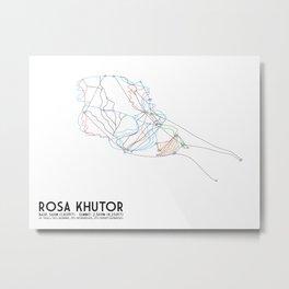 Rosa Khutor, Sochi, Russia - European Edition - Minimalist Trail Art Metal Print