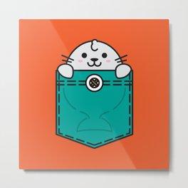 Pocket Sea Lion Metal Print