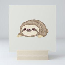 Sloth lying down Mini Art Print