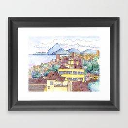 View from Ruins Park, Rio de Janeiro Framed Art Print