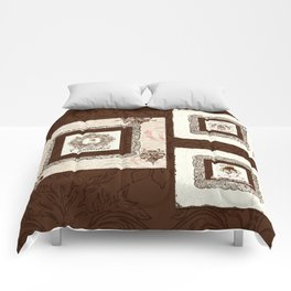 """Vintage Style """"Le Chocolatier"""" Chocolate Candy  Comforters"""