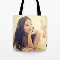 asian Tote Bags featuring Asian Beauty by visualspectrum