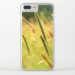 in the field Clear iPhone Case