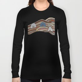 Line Faces One Long Sleeve T-shirt