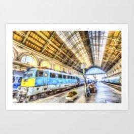 Keleti Railway Station Budapest Art Art Print