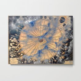 Compass Rose Obscured By Clouds Metal Print