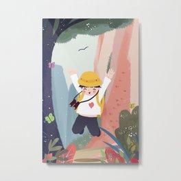 Outdoor Adventure Boy Metal Print