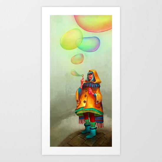 Bubbles of Color Art Print
