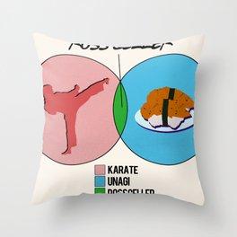 Venn Diagram for Ross Geller Throw Pillow