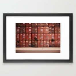 Stack of Contraband/Containers at the Port Framed Art Print