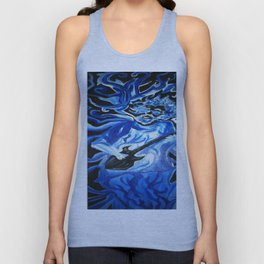 Jerry Garcia Blues Acrylic Painting Grateful Dead Unisex Tank Top