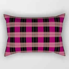RASPBERRY PLAID Rectangular Pillow