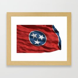 Tennessee Fancy Flag Framed Art Print