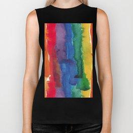 rainbow watercolor Biker Tank