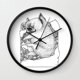 I'm Tired, You're a Lonely Frenchie Wall Clock