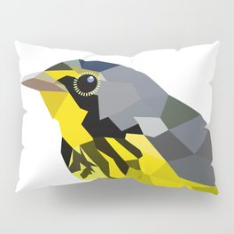 Bird art canada warbler Yellow gray Pillow Sham