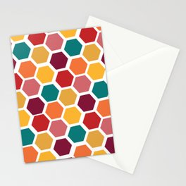 Bright and Happy Geometric Pattern Stationery Cards