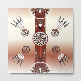 American Native Pattern No. 240 Metal Print