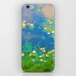 Autumn leaves on water 1 iPhone Skin