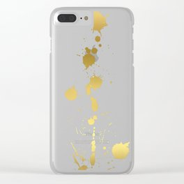 Golden abstract #2 Clear iPhone Case