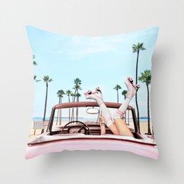 Long Beach Throw Pillow
