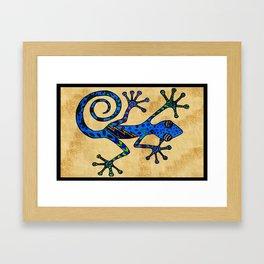 Bowie Gecko Framed Art Print