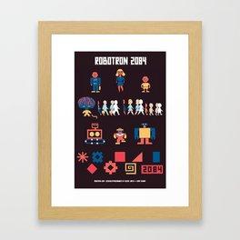 Robotron 2084 Art Poster Framed Art Print