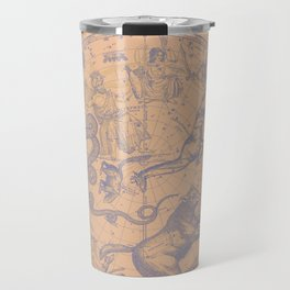 New York COnstellations | Pastel Blue over Summer Peach Travel Mug
