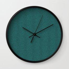 Teal Waves Wall Clock