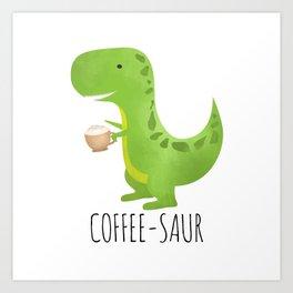 Coffee-saur Art Print